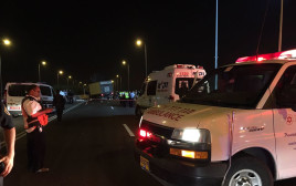 אמבולנס בתאונה בכביש 4