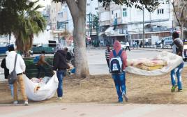 מבקשי מקלט בתל אביב (למצולמים אין קשר לכתבה)