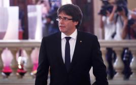 נשיא קטלוניה קרלס פוג'דמון מגיע לפרלמנט