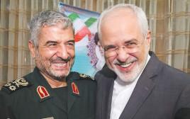 שר החוץ האיראני זריף עם מפקד משמרות המהפכה