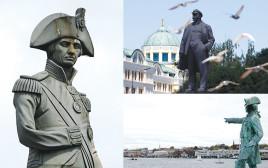 פסליהם של לנין (דונצק), קוק (סידני) ונלסון (לונדון)