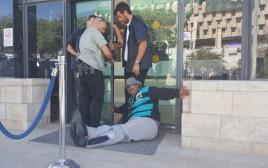 הפגנת הנכים מול משרד ראש הממשלה בירושלים