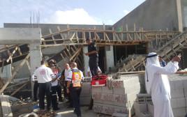 קריסת הגג באתר בנייה בנגב