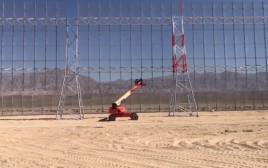 הקמת המכשול סביב שדה תעופה רמון