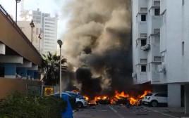 פיצוץ רכב באשדוד