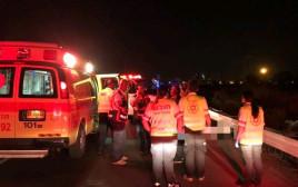 זירת תאונה קשה, רוכב אופניים נהרג