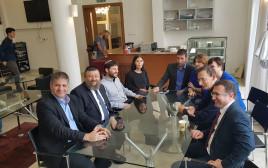 חברי הכנסת במסיבת העיתונאים על משבר הסיעוד