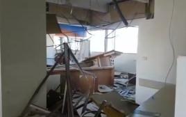 חדר החדשות של ערוץ 1 נהרס