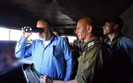 שר הביטחון אביגדור ליברמן בסיור בגבול הצפון