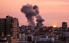 """הפצצות של צה""""ל ברצועת עזה"""