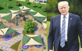 """הפארק בקריית ים שייקרא ע""""ש דונלד טראמפ"""