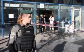 זירת פיגוע הדקירה בירושלים