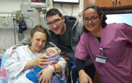 יבגניה ואנדרי דנור ילדו בת ב-2018