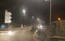 זירת הפיגוע סמוך לחוות גלעד