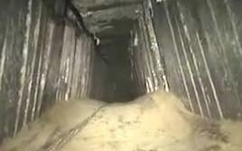 המנהרה שנחשפה בעזה