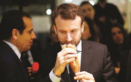 עמנואל מקרון אוכל בגט