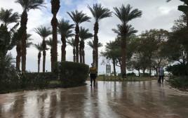 גשם בים המלח