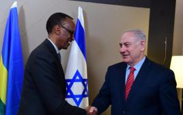 נתניהו עם נשיא רואנדה פול קגאמה