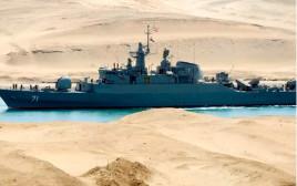 ספינה איראנית עוברת בתעלת סואץ