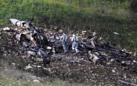 שרידי מטוס הקרב של חיל האוויר בשטח ישראל