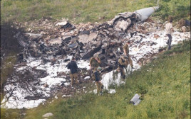 שרידי מטוס הקרב במצפה הרדוף