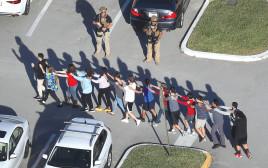זירת הרצח בבית הספר בפלורידה