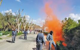 השלכת האבוקה לעבר ביתו של ראש הממשלה בקיסריה