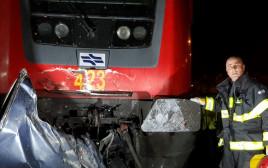 רכבת פגעה ברכב סמוך לרמלה