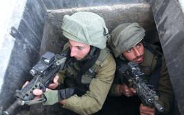 חיילי גבעתי מתכוננים לאיום המנהרות
