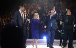 ראש הממשלה ורעייתו בטקס הדלקת המשואות