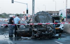 הרכב המפוצץ בו נסע עלי עאמר