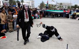 הפגנה נגד ישראל במרוקו