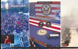 העימותים ברצועה, העברת השגרירות ונטע ברזילי בכיכר. המסך המפוצל של ערוץ 10