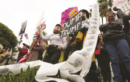 הפגנה נגד דונלד טראמפ