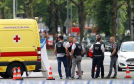 זירת אירוע הירי בבלגיה