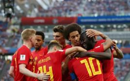נבחרת בלגיה חוגגים