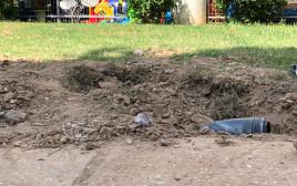 רקטה שנפלה סמוך לגן ילדים במועצה האזורית אשקול