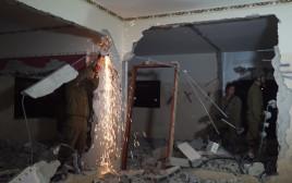 הריסת בית המחבל מפיגוע הדריסה ביעבד