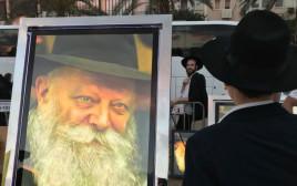 """חסיד של חב""""ד בכנס בתל אביב"""