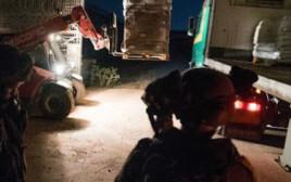 """צה""""ל מעביר סיוע לפליטים בסוריה"""
