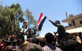 חגיגות כיבוש צבא אסד באזור דרעא