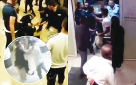 תיעוד של גילויי אלימות בבתי חולים, כפי שתועדו במצלמות אבטחה