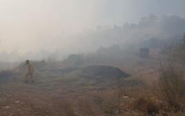 שריפה סמוך לבית שמש