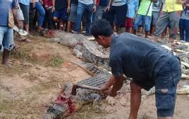 תושבים מקומיים שוטים תנינים בנקמה על מותו של תושב
