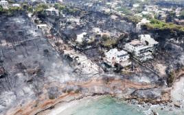 העיירה מאטי ביוון שנפגעה קשות בגל השריפות