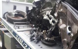 זירת התאונה בצרפת