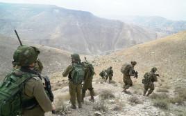 תצפיות אחר חוליית המחבלים בדרום רמת הגולן הסורית