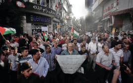 הפגנה נגד הרשות בעזה
