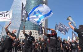 מחאת הכבאים בתל אביב