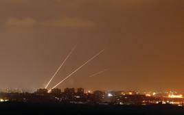 רקטות נורות מעזה לישראל